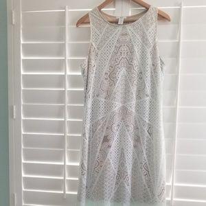 Striking pale mint maxi dress.